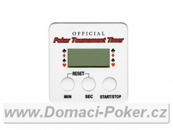 Poker timer hranaté stopky Official Tournament
