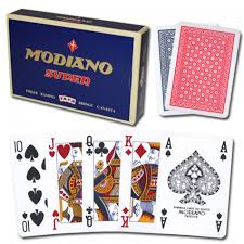 Modiano Super Fiori 100% Plast 4x Poker index 2-Pack